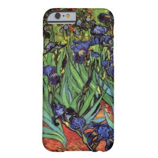 Iris de Van Gogh, arte del impresionismo del poste Funda De iPhone 6 Barely There