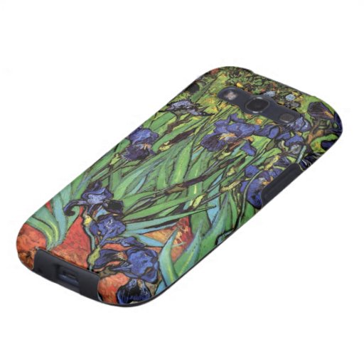 Iris de Van Gogh, arte del impresionismo del poste Galaxy S3 Protector