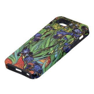 Iris de Van Gogh, arte del impresionismo del poste iPhone 5 Protector