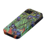 Iris de Van Gogh, arte del impresionismo del poste Vibe iPhone 4 Fundas