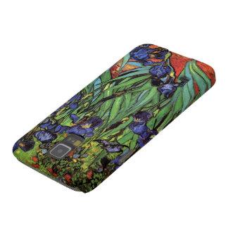 Iris de Van Gogh, arte del impresionismo del poste Fundas De Galaxy S5