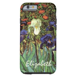 Iris de Van Gogh, arte del impresionismo del poste Funda Para iPhone 6 Tough