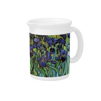 Iris de Van Gogh, arte del impresionismo del poste Jarra Para Bebida