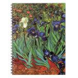Iris de Van Gogh, arte del impresionismo del poste Libro De Apuntes Con Espiral
