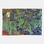 Iris de Van Gogh, arte del impresionismo del poste Toallas