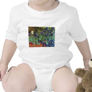 Iris de Van Gogh, arte del impresionismo del poste Trajes De Bebé