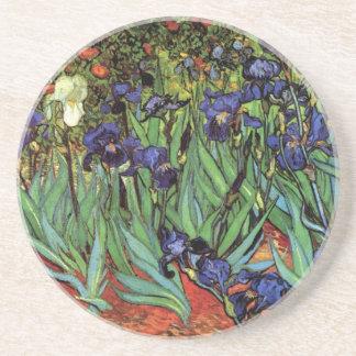Iris de Van Gogh arte del impresionismo del poste Posavasos Manualidades