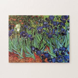 Iris de Van Gogh, arte del impresionismo del poste Puzzle Con Fotos