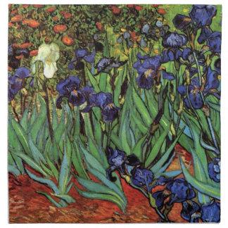 Iris de Van Gogh, arte del impresionismo del poste Servilletas De Papel