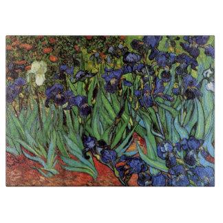 Iris de Van Gogh, arte del impresionismo del poste Tabla Para Cortar