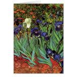 Iris de Van Gogh, arte del impresionismo del poste Tarjetas