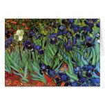 Iris de Van Gogh, arte del impresionismo del poste Tarjeta