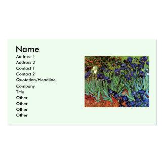 Iris de Van Gogh, arte del impresionismo del poste Tarjeta Personal