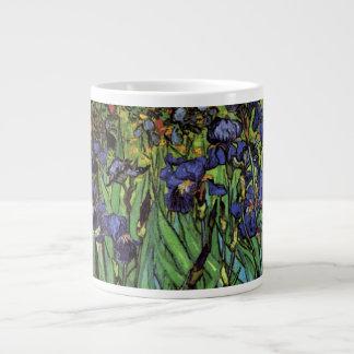 Iris de Van Gogh, arte del impresionismo del poste Taza Jumbo