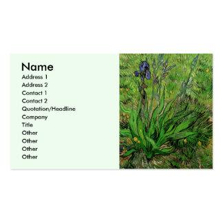 Iris de Van Gogh, arte del jardín del Tarjetas De Visita