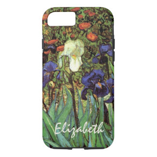 Iris de Van Gogh, bella arte del jardín del Funda iPhone 7