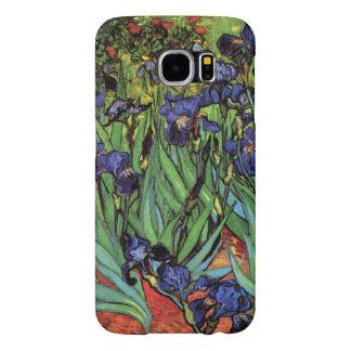 Iris de Van Gogh, bella arte del jardín del Fundas Samsung Galaxy S6