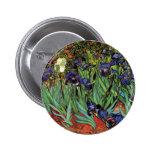 Iris de Van Gogh, bella arte del jardín del Pin Redondo De 2 Pulgadas