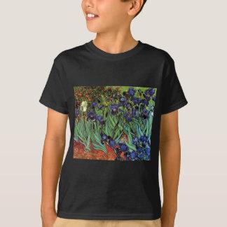Iris de Van Gogh, bella arte del jardín del Playera