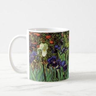 Iris de Van Gogh, bella arte del jardín del Taza De Café
