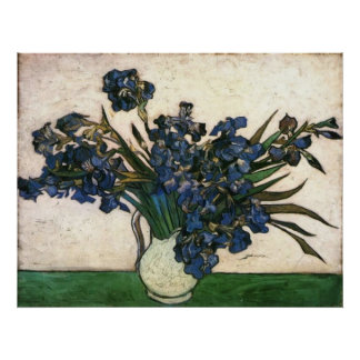 Iris de Van Gogh en florero Impresiones