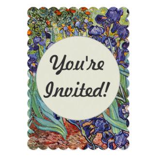 Iris de Van Gogh Invitación 12,7 X 17,8 Cm