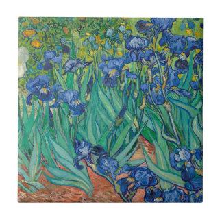 Iris de Vincent van Gogh Azulejo Cuadrado Pequeño
