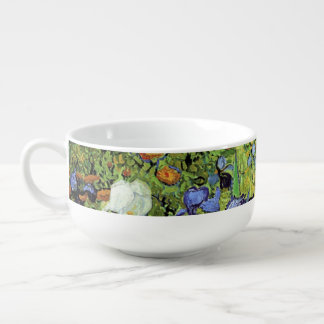 Iris de Vincent van Gogh Cuenco Para Sopa