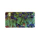 Iris de Vincent van Gogh Etiquetas De Dirección
