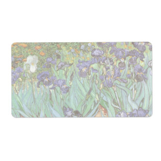 Iris de Vincent van Gogh, flores del jardín del Etiqueta De Envío