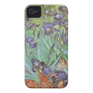 Iris de Vincent van Gogh flores del jardín del Case-Mate iPhone 4 Cobertura