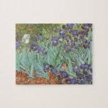 Iris de Vincent van Gogh, flores del jardín del Puzzles Con Fotos