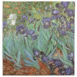 Iris de Vincent van Gogh, flores del jardín del Servilleta De Papel