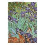 Iris de Vincent van Gogh, flores del jardín del Tarjeta