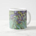 Iris de Vincent van Gogh, flores del jardín del Taza Extra Grande