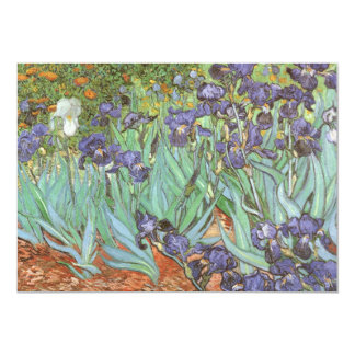 Iris de Vincent van Gogh, impresionismo del Invitación 12,7 X 17,8 Cm