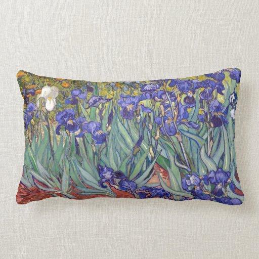 Iris de Vincent van Gogh que pintan la impresión d Almohadas