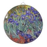 Iris de Vincent van Gogh que pintan la impresión d Tabla Dardos
