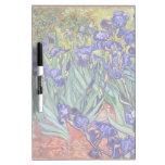 Iris de Vincent van Gogh que pintan la impresión d Tablero Blanco