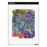 Iris de Vincent van Gogh que pintan la impresión d Calcomanía Para El iPad 2