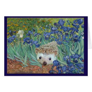 """Iris de Vincent van Hog's """"y también un erizo. """" Tarjeta De Felicitación"""