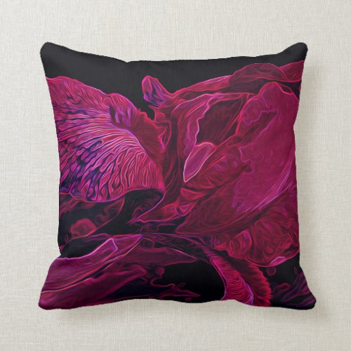 Iris Deep ______ Glow Throw Pillow