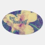 Iris del amor usted mismo colcomanias ovaladas
