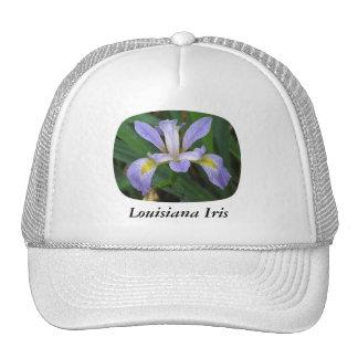 Iris del azul de Luisiana Gorras De Camionero