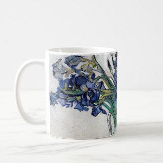 Iris del azul de Van Gogh Taza Clásica