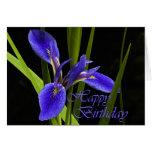 Iris del feliz cumpleaños tarjeta de felicitación