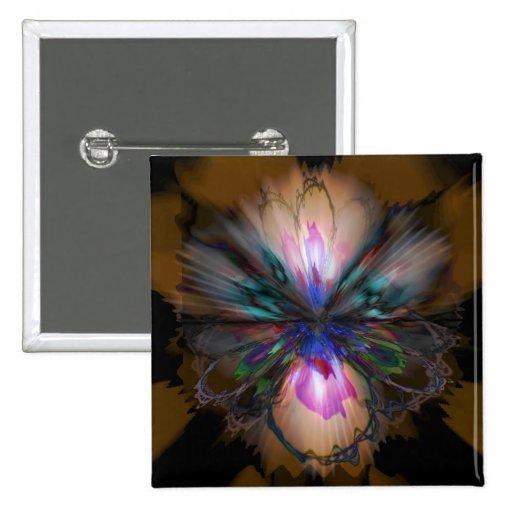 Iris del pavo real pin