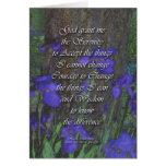 Iris del rezo de la serenidad tarjeta