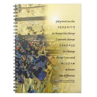 Iris del rezo de la serenidad y cuaderno de la cer