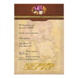 Iris - Diafragma violeta Invitaciones Personalizada